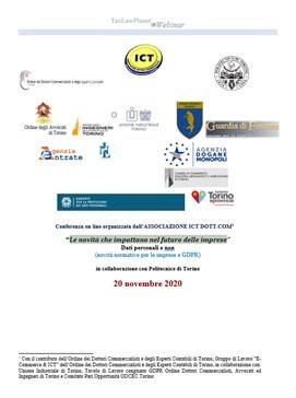 Webinar Associazione ICT Dott Com – Privacy & GDPR